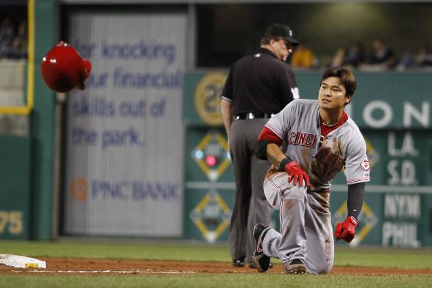 Reds' Shin-Soo Choo Sits Saturday with a Jammed Thumb