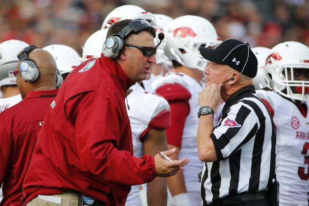 Rutgers Hands Hogs First Loss Under Bielema