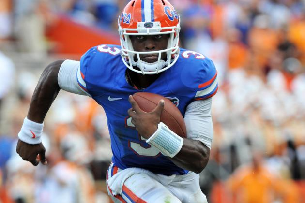 Florida QB Tyler Murphy Takes Shotgun Snap to the Face