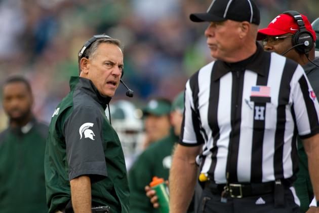 Michigan State vs. Notre Dame: Penalties and Questionable Calls Doom Spartans
