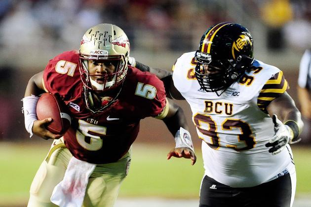 Florida State's Jameis Winston Finally Looked Human vs. Bethune-Cookman