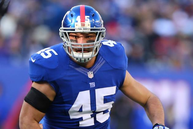 Giants FB Henry Hynoski Questionable to Return Due to Shoulder Injury