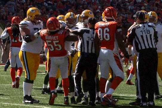 Vontaze Burfict Hits Ryan Taylor Below the Belt, Taylor Responds