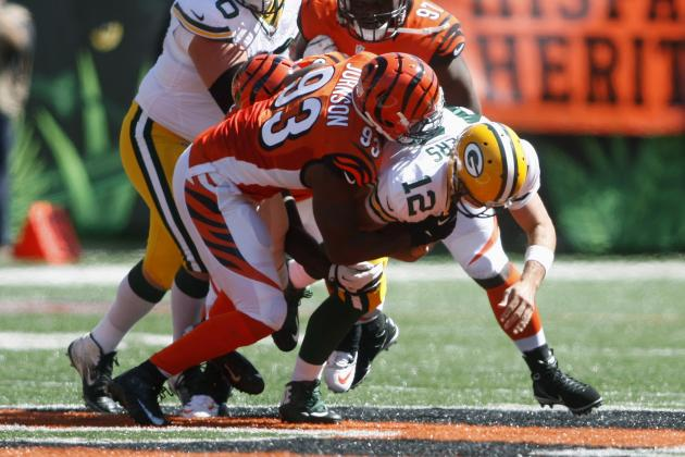 Bengals Pick Rodgers off Twice, Rack Up 4 Sacks