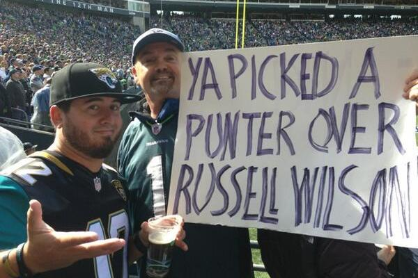Seahawks Fan's Sign Sums Up the Jaguars Perfectly