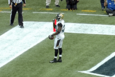 Jaguars Running Back Jordan Todman Motions for Crowd to Hush After Touchdown
