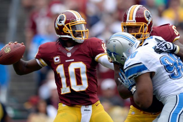 RGIII Totals 363 Yds in Loss to Lions