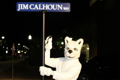 "UConn Renames Stadium Road ""Jim Calhoun Way"" to Honor Former Coach"