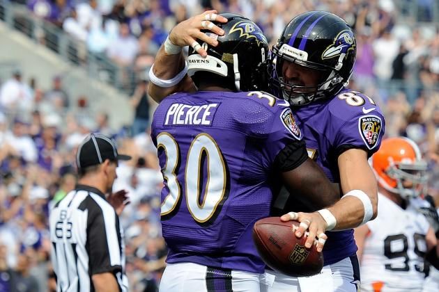 Ravens RB Bernard Pierce Makes His First Career Start
