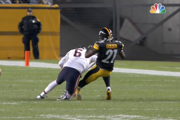 Jay Cutler Finishes Run with Big Hit on Robert Golden