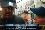 Is That a Baby Drinking Beer at A's Playoff Celebration?