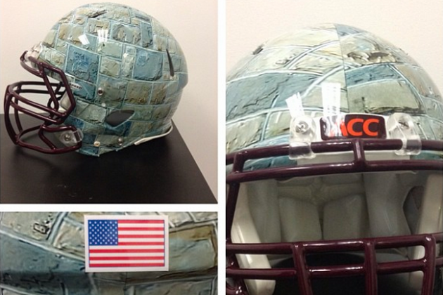 Hokies Officially Unveil Unique 'Hokie Stone' Helmets for Game vs. Georgia Tech