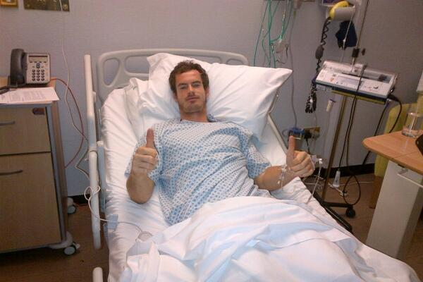 Andy Murray Tweets Picture from His Hospital Bed After Back Operation