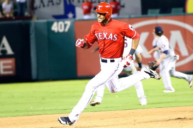 Alex Rios Hits for Cycle in Must-Win Game for Texas Rangers