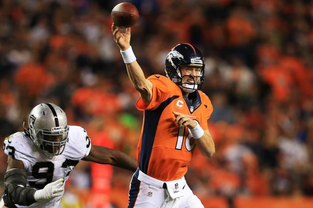 Peyton Manning Breaks Tom Brady's Record for Most TD Passes Through 3 Games