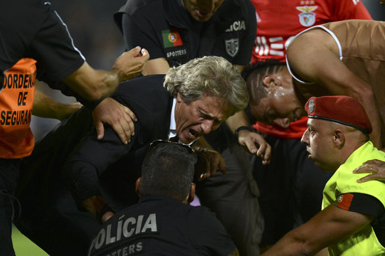 Benfica Boss Jorge Jesus Could Face Huge Ban After Fighting Police