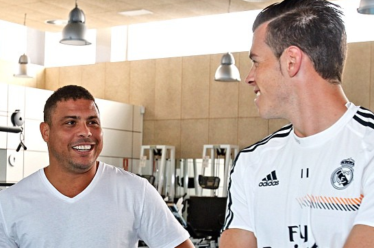 Ronaldo Meets Cristiano Ronaldo and Gareth Bale at Real Madrid Training