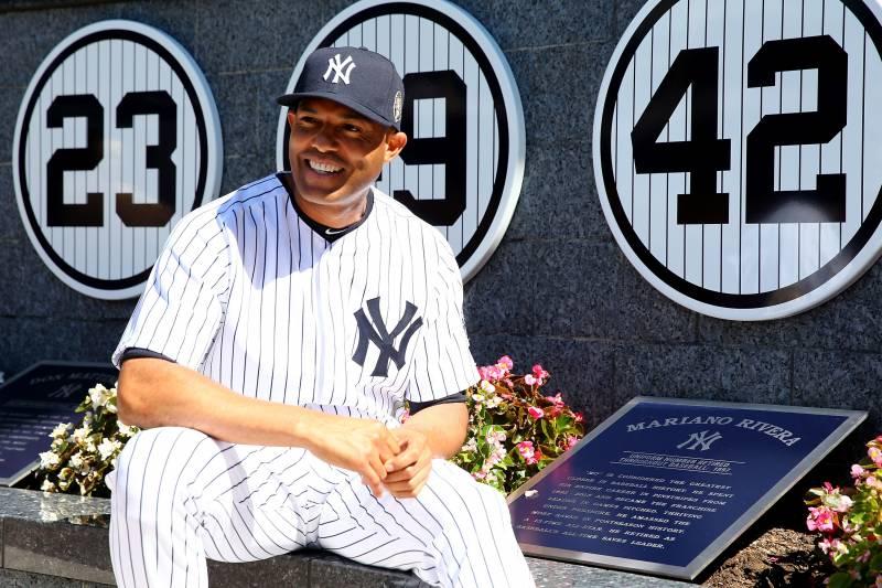 b04913de6 ... Yankees NEW YORK, NY - SEPTEMBER 22 Mariano Rivera 42 of the New York  ...