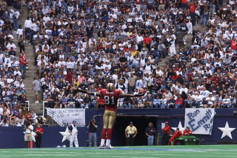 We Remember Terrell Owens Celebrating on the Dallas Cowboys Star