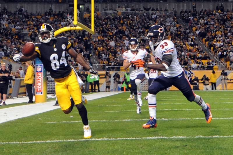 Steelers history vs bears, Steelers vs. bears, Antonio Brown, Charles Tillman