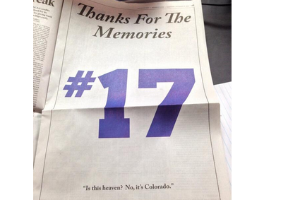 Denver Post Ad Honors Helton Before Last Home Game