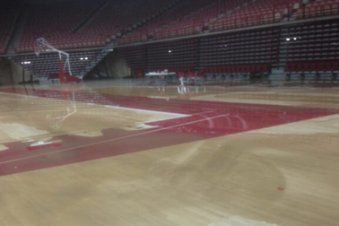 Arkansas' Bud Walton Arena Damaged by Flooding