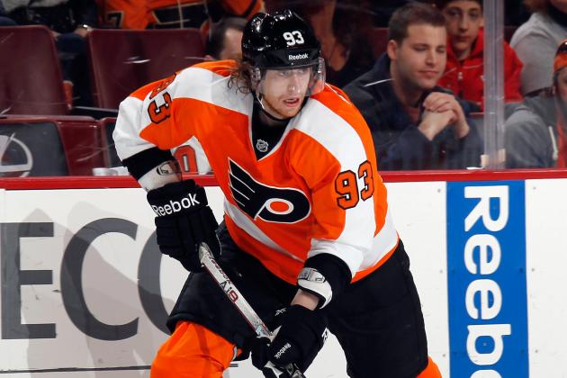 Philadelphia Flyers Forward Jakub Voracek Leaves with Upper-Body Injury