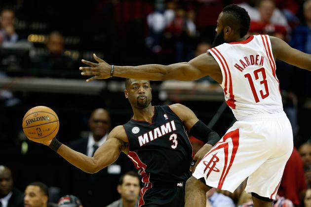 James Harden vs. Dwyane Wade: Which NBA Star Has the Edge Entering 2013-14?