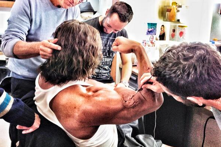 Dwayne 'The Rock' Johnson Teases Hercules Photo, Shows off His Enormous Biceps
