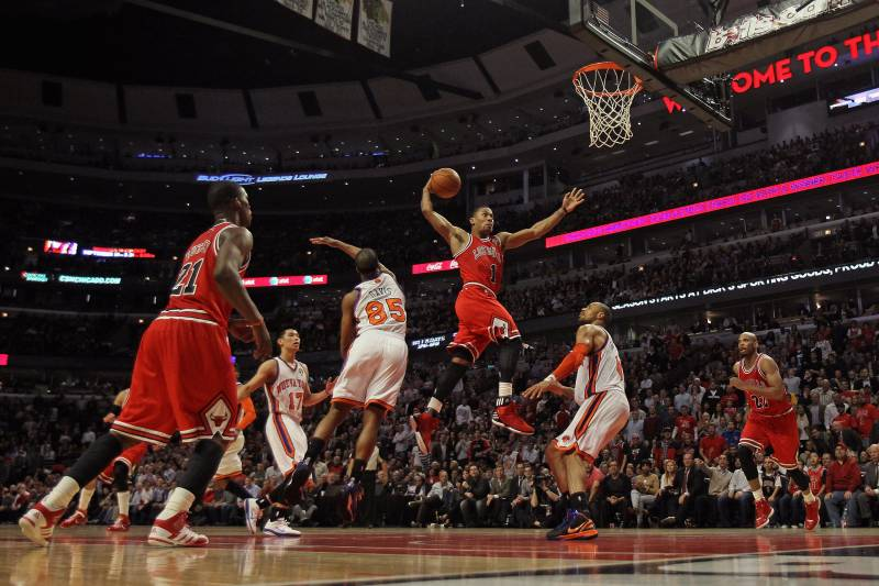 Dispelling the myth that derrick rose is not a true point guard chicago il march 12 derrick rose 1 of the chicago bulls goes voltagebd Gallery