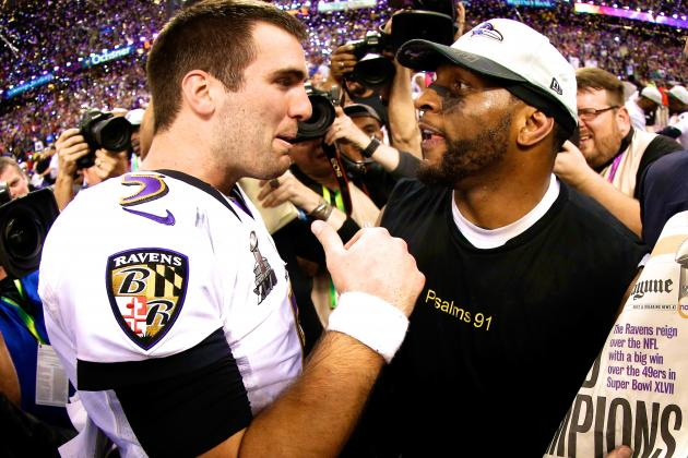 Joe Flacco Responds to Ray Lewis' Comments on Party-Bus Brawl