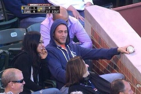 CM Punk & AJ Lee Attend Cubs Game (Photo)