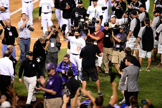Rockies Todd Helton Goes out with a Blast in Final Home Game