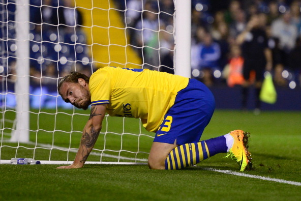 Welcome Back, Nicklas Bendtner! Returning Arsenal Striker Crashes into Post