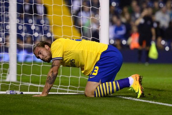 Welcome Back, Nicklas Bendtner! Returning Arsenal Striker Crashes into Post