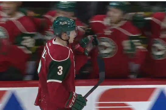 Video: Suter Connects with Coyle on Wild Breakaway