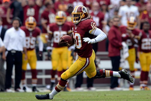RGIII Doing Limited Running from Read-Option Look