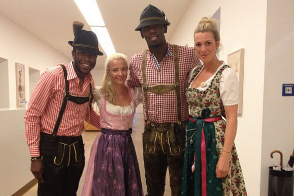 Usain Bolt Looks Like He's Having a Great Time at Oktoberfest