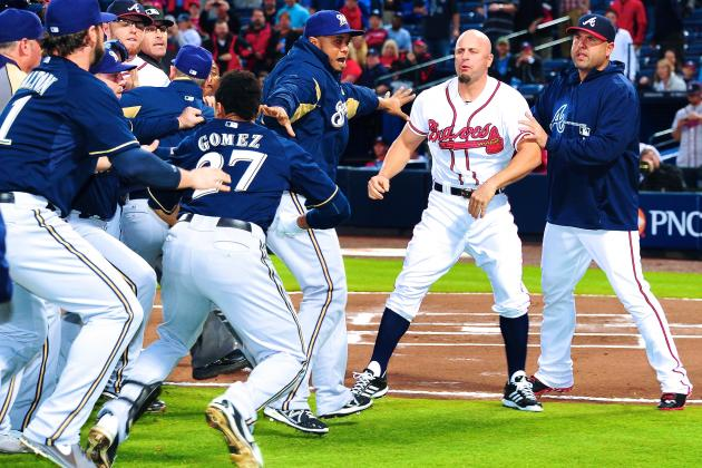 Carlos Gomez, Reed Johnson Suspended 1 Game for Brewers-Braves Altercation