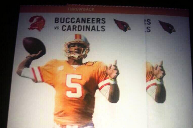 Recently Benched Josh Freeman Featured on Tampa Bay Buccaneers Game Ticket
