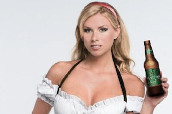 Rams' Mike McNeill's Girlfriend Katie Kearney in an Oktoberfest Outfit