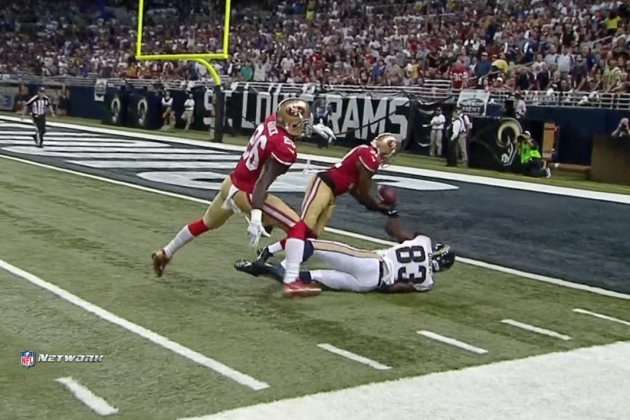 49ers Safety Donte Whitner Makes Insane Play for Interception