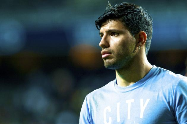 Sergio Aguero Ruled Out of Manchester City's Trip to Aston Villa