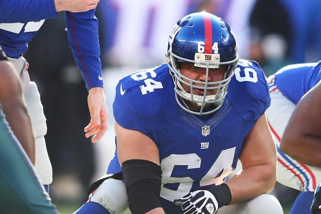 Giants will be without 40 percent ofO-line