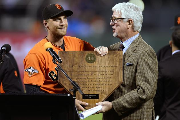 San Francisco Giants' Hunter Pence Wins 'Willie Mac' Award