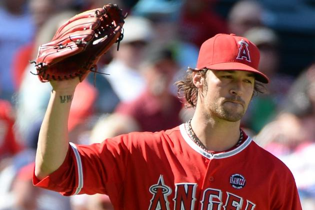 C.J. Wilson Blames Erratic Inning on Slippery Baseballs