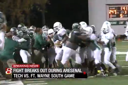 High School Football Game Called After Huge Brawl Breaks Out