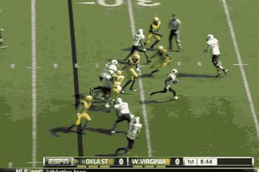 Oklahoma State's Josh Stewart Takes a Short Pass 73 Yards to the House