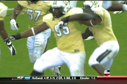 UCF DT E.J. Dunston Treats Us to a Big Man Punt Return