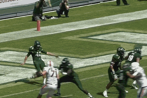 South Florida Punter Strikes a Booming Two-Yard Punt
